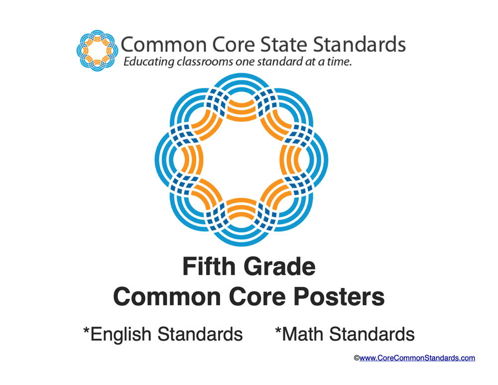Fifth Grade Common Core Standards Posters   Common Core Worksheets