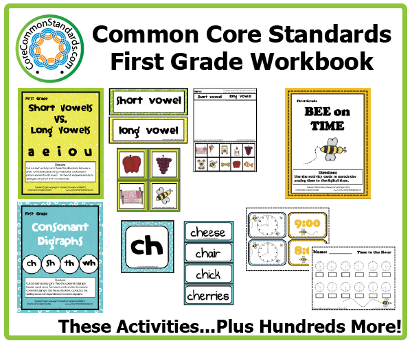 Worksheets 1st Grade Common Core Math Worksheets first grade common core workbook download activities