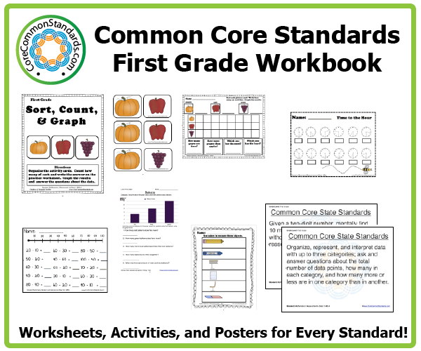 Worksheets 1st Grade Common Core Math Worksheets first grade common core workbook download