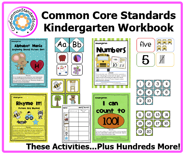 Kindergarten Common Core Workbook DownloadKindergarten Common Core Activities ...