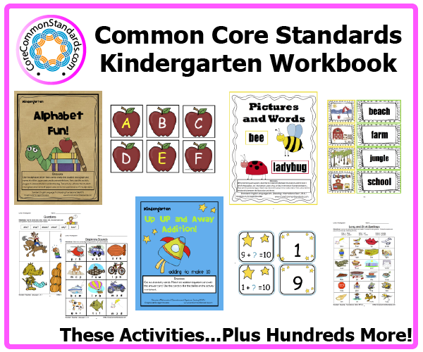 Worksheets Common Core Kindergarten Worksheets kindergarten common core workbook download activities