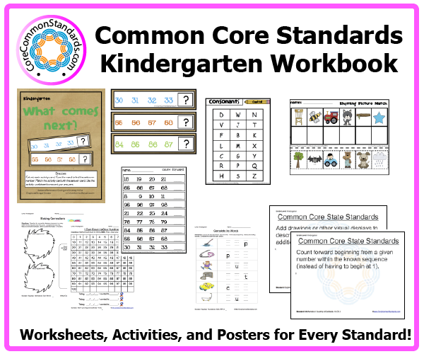 Kindergarten Common Core Workbook Download – Common Core Standards Math Worksheets