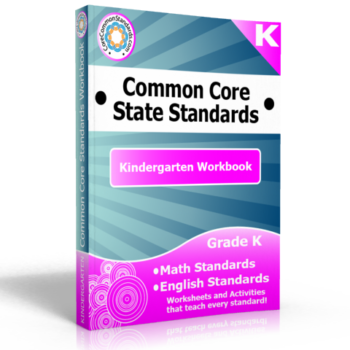 kindergarten common core standards workbook 350x350 K.G.1 Common Core Worksheets and Activities