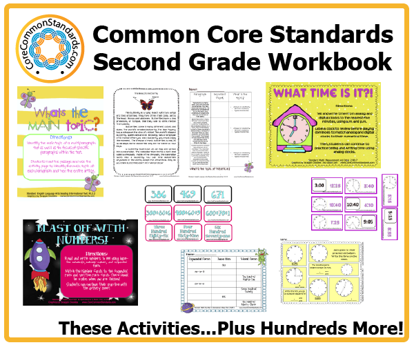 Printables Common Core 2nd Grade Math Worksheets second grade common core workbook download activities