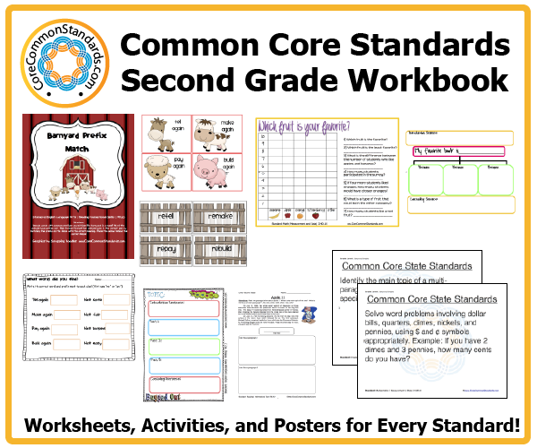 Worksheets Second Grade Math Worksheets Common Core second grade common core workbook download activities