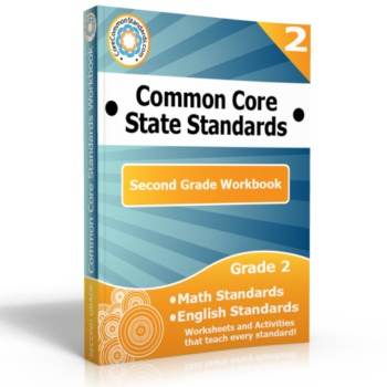 second grade common core workbook 350x350 Second Grade Number and Operations in Base Ten Standards