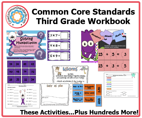 Worksheets Common Core Worksheets For 3rd Grade third grade common core workbook download