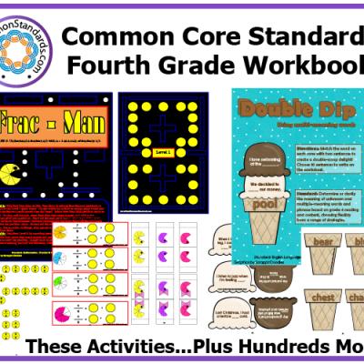 Fourth Grade Common Core Workbook Usb