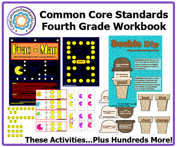Math worksheets 4th grade common core