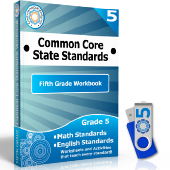 Fifth Grade Common Core Workbook on USB