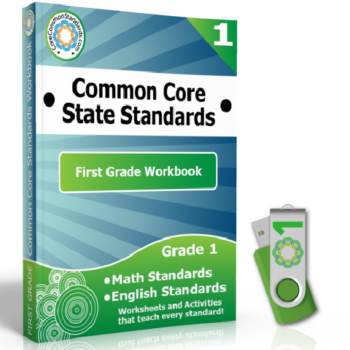 First Grade Common Core Workbook on USB