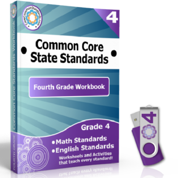 Fourth Grade Common Core Workbook on USB