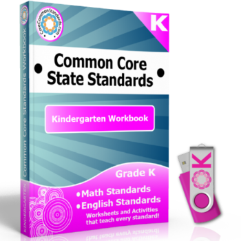 kindergarten common core workbook usb 350x350 Kindergarten Reading Foundational Skills Standards
