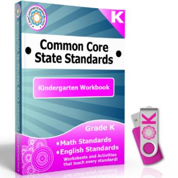 Kindergarten Common Core Workbook on USB