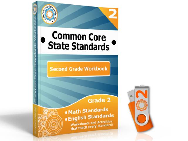 Second Grade Common Core Workbook on USB