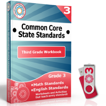third grade common core workbook usb 350x350 Third Grade Reading Informational Text Standards