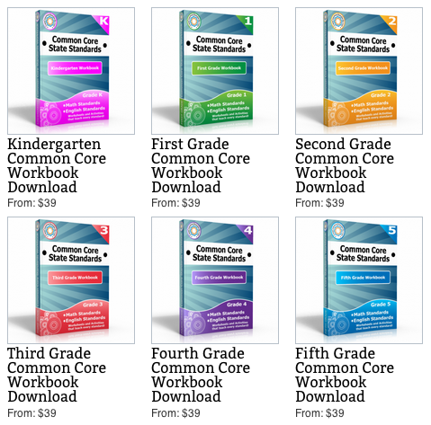 Common Core Workbooks Sale