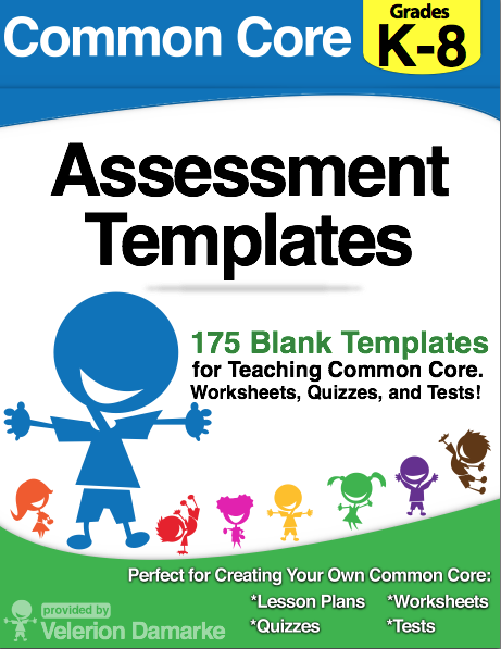 Common Core Assessment Templates