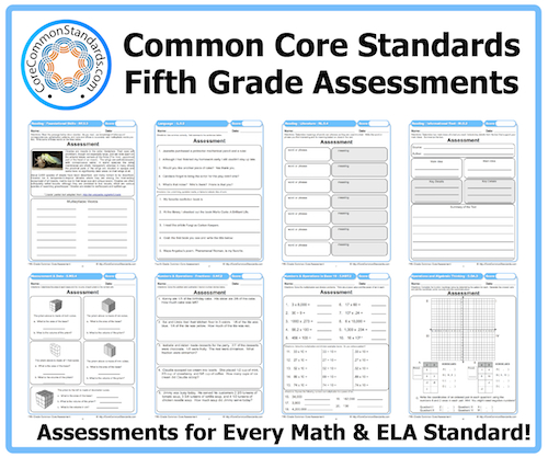 Printables Common Core Math Worksheets 5th Grade fifth grade common core assessment workbook download assessments