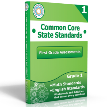 first grade common core assessment workbook 350x350 First Grade Math Standards