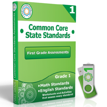 first grade common core assessment workbook usb 350x350 First Grade Math Standards
