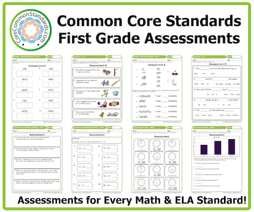 Printables Common Core Math Worksheets 1st Grade first grade common core assessment workbook download assessments