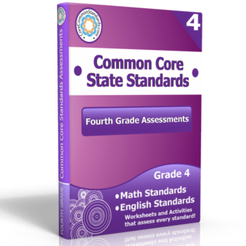 fourth grade common core assessment workbook 350x350 Fourth Grade Number and Operations Fractions Standards