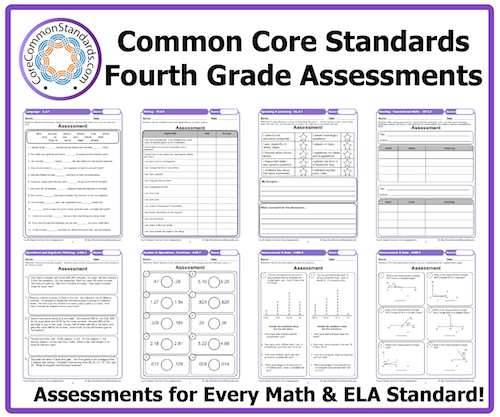 Worksheet Fourth Grade Common Core Math Worksheets fourth grade common core assessment workbook download assessments