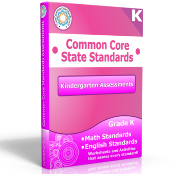 kindergarten common core assessment workbook 350x350 Math Standards