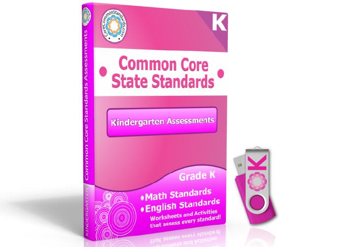 Kindergarten Common Core Assessment Workbook USB