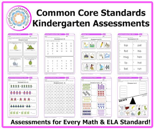 Kindergarten Common Core Assessment Workbook Download