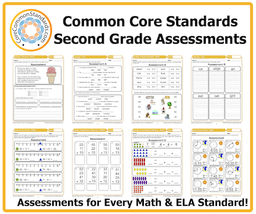 Common Core Math Worksheets For 2nd Grade : Second grade common core assessments