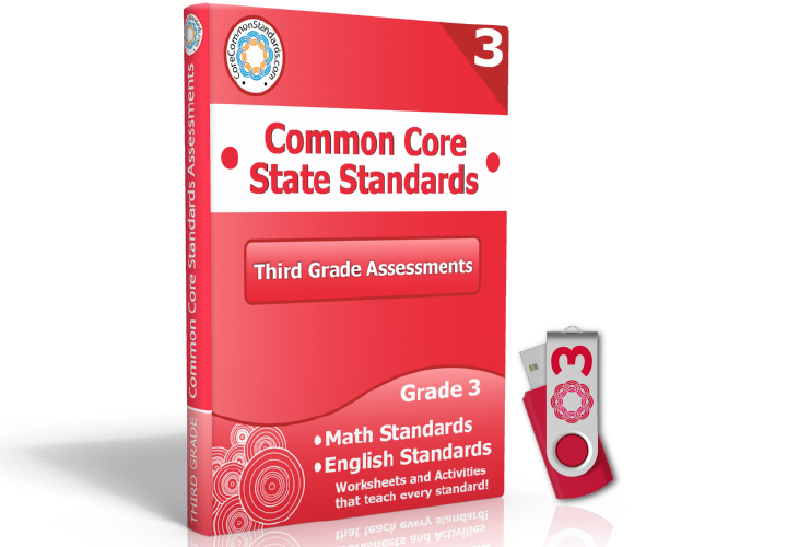 Third Grade Common Core Assessment Workbook USB