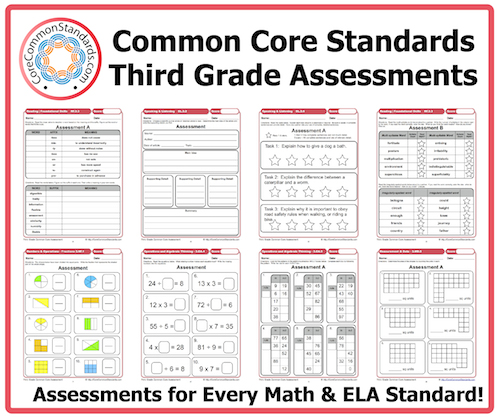 Printables Common Core Math Worksheets 3rd Grade third grade common core assessment workbook download assessments