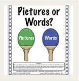 pictures or words lesson