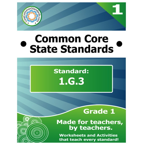 1.G.3 First Grade Common Core Bundle