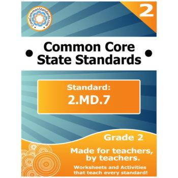 2.MD.7 Second Grade Common Core Bundle