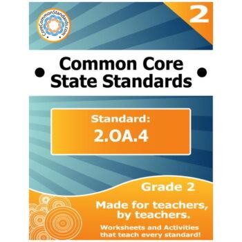 2.OA.4 Second Grade Common Core Bundle