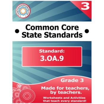 3.OA.9 Third Grade Common Core Bundle
