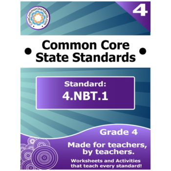 4.NBT.1 Fourth Grade Common Core Bundle