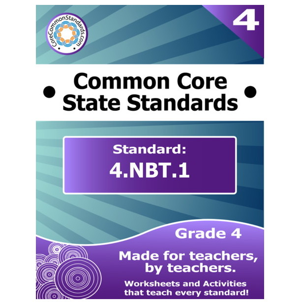 4nbt1 Fourth Grade Common Core Bundle Worksheets Activities