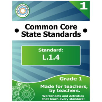 L.1.4 First Grade Common Core Bundle