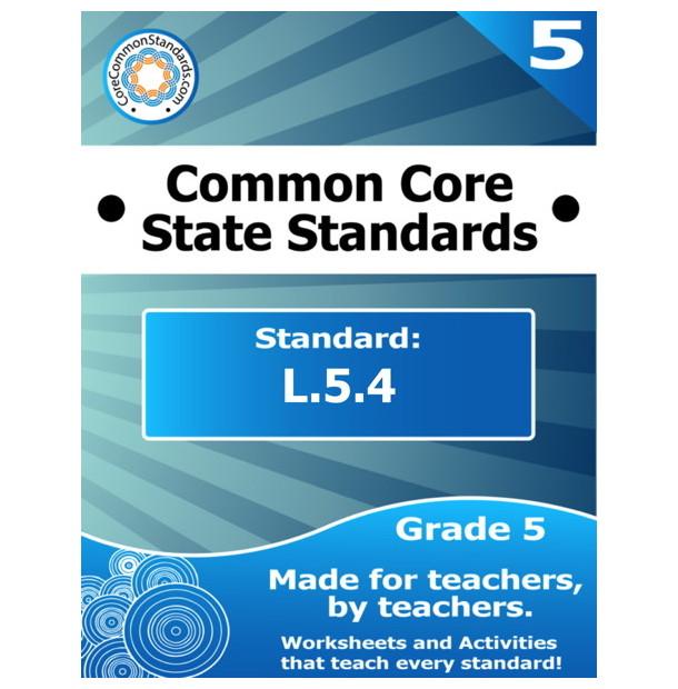 L.5.4 Fifth Grade Common Core Bundle