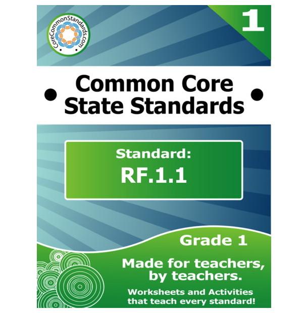 RF.1.1 First Grade Common Core Bundle