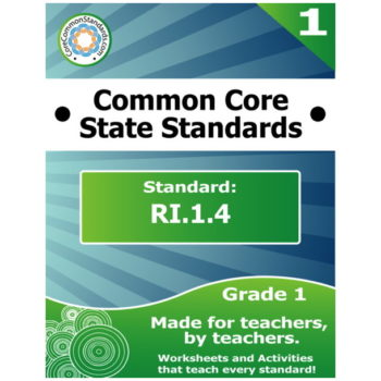 RI.1.4 First Grade Common Core Bundle
