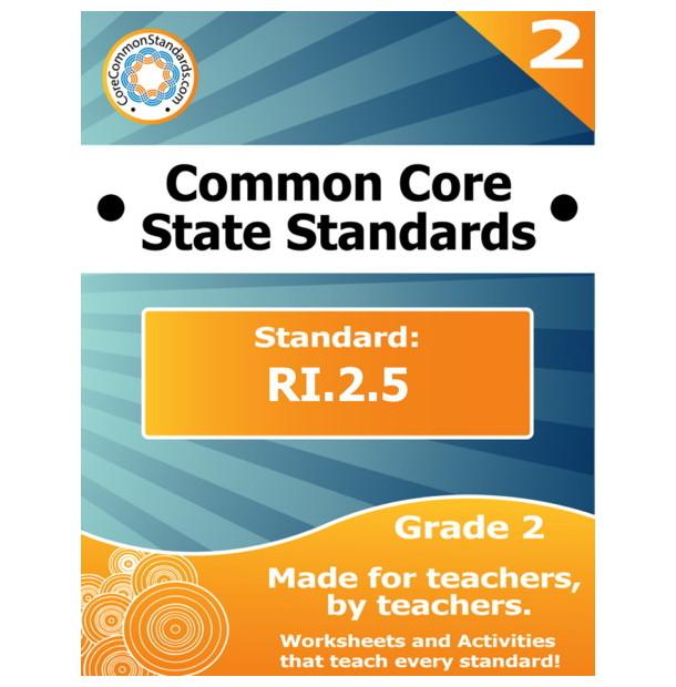RI.2.5 Second Grade Common Core Bundle