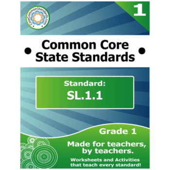 SL.1.1 First Grade Common Core Bundle