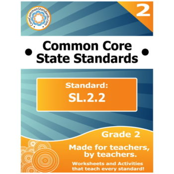 SL.2.2 Second Grade Common Core Bundle