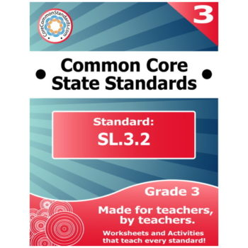 SL.3.2 Third Grade Common Core Bundle